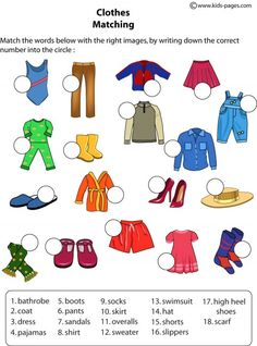 english resources clothes for kids Kids English, English Study, English Class, English Words, English Grammar, Teaching English, Learn English, English Language, English Resources