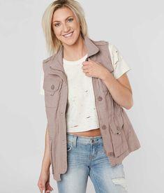 Ashley Canvas Vest - Women's Vests in D Mauve   Buckle
