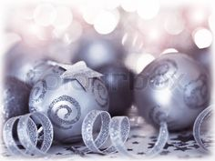 Stock image of 'baubles Christmas tree ornament, winter holidays decoration, ornamental decorative toys pinkbackground with magic glowing blur bokeh lights, home decor at winter holidays, new year eve'