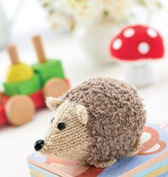 Knitted Hedgehog & Toadstools