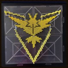 Team Instinct  - Pokemon GO perler beads by otakubeadsmith