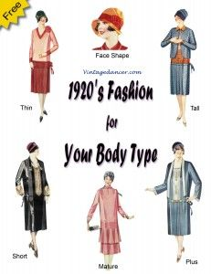 1920's Fashion for Your Body type- A Must have book for all plus size, petite, mature, or anyone who thinks they can't look good in 1920's dresses : http://www.vintagedancer.com/1920s/1920s-plus-size-fashion-history/