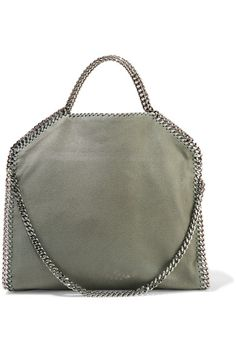 Gray faux brushed-leather Magnetic snap fastening at top Comes with dust bag Weighs approximately 2.4lbs/ 1.1kg Made in Italy