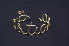 Pitacos de Mulherzinha: Eu Amei!!! Bracelete com nome
