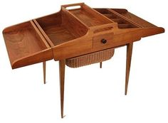 1950s sewing box storage sideboard mid century Danish teak vintage retro 60s   eBay