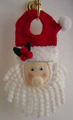 Curating the very best crochet. Crochet Christmas Decorations, Crochet Ornaments, Christmas Crochet Patterns, Holiday Crochet, Christmas Knitting, Crochet Home, Crochet Santa, Crochet Cross, Christmas Items