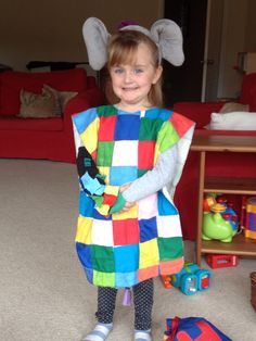 Elmer Costume - World News Book Character Day, Book Character Costumes, Book Characters, World Book Day Costumes, Book Week Costume, Children's Day Activities, World Book Day Ideas, Elephant Costumes, World Cancer Day
