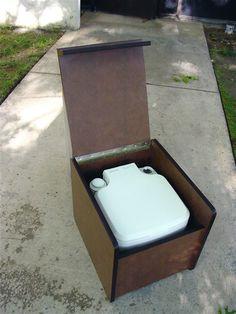 Vanagon toilet box, for a porta-potty.