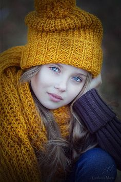 Autumn mustard yellow knitted accessories by grekovamashulya ✿⊱╮