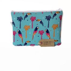 A personal favourite from my Etsy shop https://www.etsy.com/uk/listing/559543279/large-toucan-pencil-case-makeup-bag