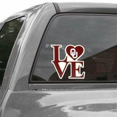 Oklahoma Sooners Love 6'' Vinyl Logo Decal