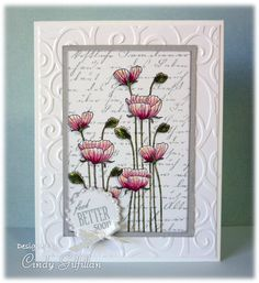 Long Stem Flowers on Script by frenziedstamper - Cards and Paper Crafts at Splitcoaststampers
