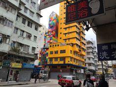 Hong Kong Mural by Okuda