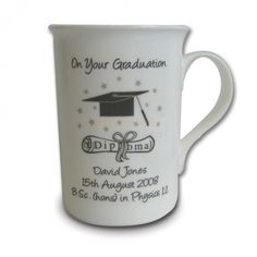 Personalised Graduation Mug from Personalised Gifts Shop - ONLY Degree Certificate, Certificate Design, Mug Printing, Personalised Gifts, Love Messages, Graduation Gifts, Happy Day, First Love, Shots