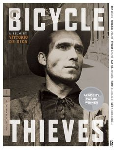 Ricci, an unemployed man in the depressed post-WWII economy of Italy, gets at last a good job - for which he needs a bike - hanging up posters. But soon his bicycle is stolen. He and his son walk the streets of Rome, looking for the bicycle. http://www.imdb.com/title/tt0040522/?ref_=sr_1