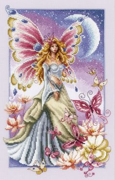 Butterfly Fairy Cross Stitch Kit £52.00 | Past Impressions | Vervaco