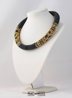 Bead crochet necklace Unique fancy and animal print choker