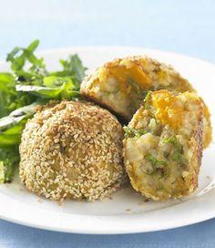 Pumpkin and Basil Risotto Balls recipe | In Season | Food | MiNDFOOD