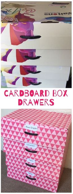 Cardboard Box Drawers, frugal and functional. An easy recycle, reuse project.