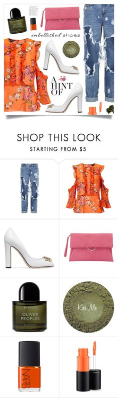 """A Hint Of"" by marina-volaric ❤ liked on Polyvore featuring OneTeaspoon, Miss Selfridge, Dolce&Gabbana, Mint Velvet, Byredo, NARS Cosmetics, MAC Cosmetics, Bobbi Brown Cosmetics and embellishedshoes"