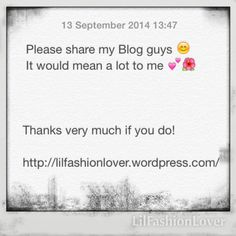 Please share my new Blog guys