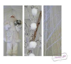 Décoration Mariage à Soie Décoration de mariage, mariage en hiver, mariage blanc, wedding, père noël blanc, neige, arbre blanc