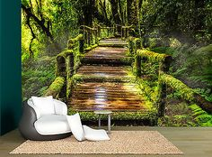 Waterfall Tropical Forest Giant Photo Wall Paper Mural 366x254cm 12/'1x8/'4 feet
