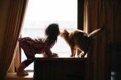 Fotos mágicas expõem a linda amizade entre crianças e gatos