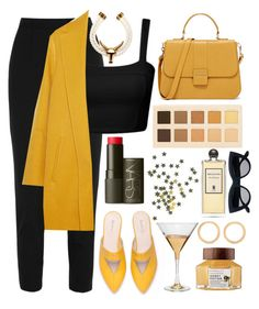 """""""✋🏻"""" by burcaak ❤ liked on Polyvore featuring Dolce&Gabbana, Rochas, NARS Cosmetics, LORAC, Marc Blackwell, Serge Lutens, Melissa Joy Manning, cool, yellow and black"""