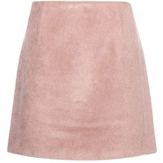 Acne Studios Alpaca-Blend Skirt (€255) ❤ liked on Polyvore featuring skirts, bottoms, pink, acne studios and pink skirt