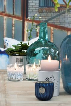 SPRING / SUMMER 2015, Lene Bjerre Design, PAIGE COLL. bottles, DANTE COLL. tealight, TRUDY COLL. tealight & CANDLE SIGNATURE COLL. candle