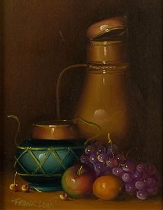 Modern Still Life with a Jug, Oil Painting by Frank Lean