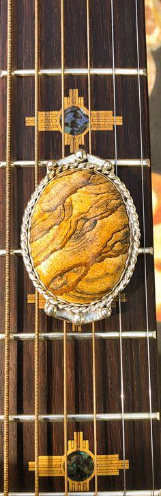 Picture Jasper Bolo Tie,set in .999 fine Silver