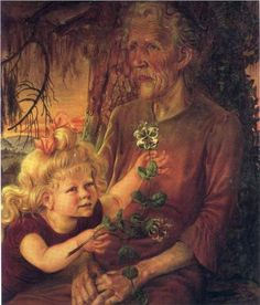German painter Otto Dix (1891-1969) | Mother and Eva