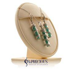 Set cu pietre pretioase veritabile, disponibil doar in magazinul Be Precious. Drop Earrings, Jewelry, Fashion, Diamond, Moda, Bijoux, Drop Earring, Jewlery, Fasion