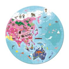 Janod Our Blue Planet Round Double Sided Puzzle $19