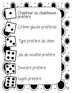 Icebreaker games in FRENCH These dice games are great for the start of a new school year - or anytime, really - for building community within your classroom and practicing oral communication skills. Games For Kids Classroom, Fun Games For Kids, Classroom Activities, Math Board Games, Dice Games, New School Year, First Day Of School, Oral Communication Skills, New Year's Games