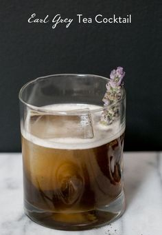 Gin, Earl Grey tea, lemon juice, lavender and honey syrup - Sugar and Charm