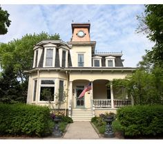 Vintage Victorian home with copper turret