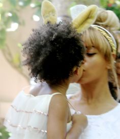 Beyonce and Blue Ivy on Easter