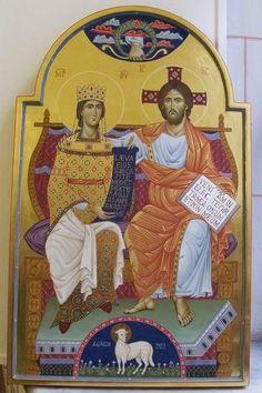 ikona według mozaiki z S.Maria in Trastevere/Roma