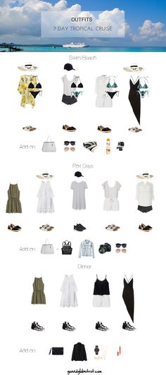 What to pack for your tropical 7 day cruise. Use this style guide to pack  better for your cruise, pack less for your cruise and still dress well for  your cruise!