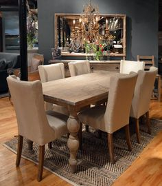 Dining Room Clearance Sale! Dozens of in-stock dining table & chair sets marked down with savings up to 60% off. Finished, Unfinished & Reclaimed sets available. In your home in time for Thanksgiving! www.derbyshires.com