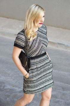 @hm tweed dress via @allywonderland