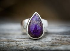 Sugilite Ring Sugilite and Sterling Silver by NaturalRockShop
