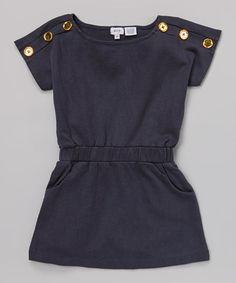 Loving this Navy Button Zapo Top - Girls on #zulily! #zulilyfinds