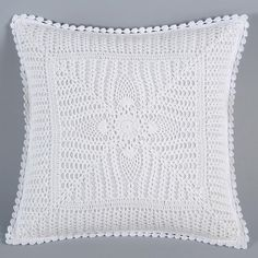 36 New Ideas for knitting patterns free cushions baby blankets Crochet Pillow Cases, Crochet Cushion Cover, Crochet Pillow Pattern, Crochet Cushions, Crochet Motif, Crochet Baby, Cushion Covers, Afghan Patterns, Knitting Patterns Free