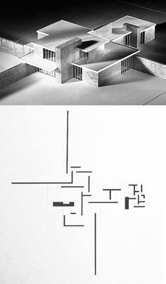 Brick Country House by Mies van der Rohe, 1924 Ludwig Mies Van Der Rohe, Koshino House, Architecture Design, Bauhaus Architecture, Casa Patio, Casas Containers, Walter Gropius, House Drawing, Brick