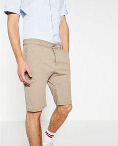 Imagen 2 de BERMUDA de Zara Zara, Bermuda Shorts, Mens Fashion, Style, Bermudas, Men, Moda Masculina, Swag, Man Fashion