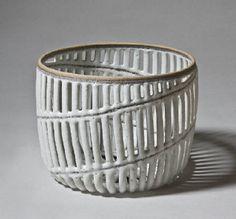 Malene Müllertz, Title: White Spiral Basket